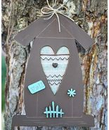 Fall Brown Birdhouse Pattern w/frame buttons cross stitch chart The Bee ... - $12.00