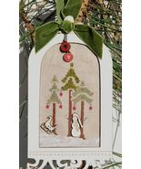 Cream Winter Birdcage w/frame buttons cross stitch The Bee Company  - $15.40