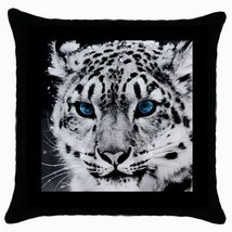 Throw Pillow Case Decorative Cushion Cover Snow Leopard Gift - $16.99