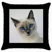 Throw Pillow Case Decorative Cushion Cover Siamese Cat Gift - $16.99