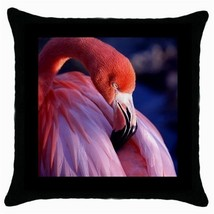 Throw Pillow Case Decorative Cushion Cover Pink Flamingo Gift - $16.99