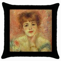 Throw Pillow Case Decorative Cushion Cover Pierre-Auguste Renoir Jeanne ... - $16.99
