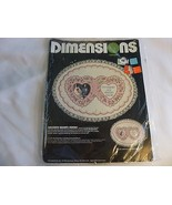 Dimensions Crewel 1301 Delicate Hearts Frame 13 X 10 New Kit 1985 - $12.86