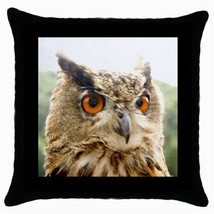 Throw Pillow Case Decorative Cushion Cover Owl Bird Head Gift - £12.71 GBP