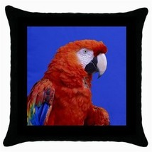 Throw Pillow Case Decorative Cushion Cover Macaw Scarlet Gift - $16.99