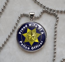 Police Officer Proud Choose Family Member Pendant Necklace - $14.00+