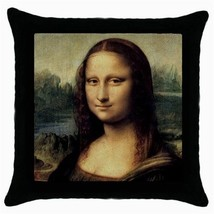 Throw Pillow Case Decorative Cushion Cover Leonardo Da Vinci Mona Lisa Gift - $16.99