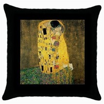 Throw Pillow Case Decorative Cushion Cover Gustav Klimt The Kiss Gift - $16.99