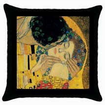 Throw Pillow Case Decorative Cushion Cover Gustav Klimt The Kiss Fragmen... - $16.99