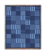 Tile Blue Throw - 70 x 54 Blanket/Throw - $64.95