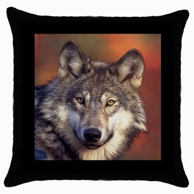 Throw Pillow Case Decorative Cushion Cover Gray Wolf Gift