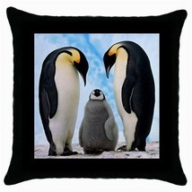 Throw Pillow Case Decorative Cushion Cover Emperor Penguins Gift - $16.99