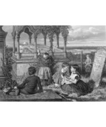 ENGLISH HEROINE Grace Darling Tomb Shipwreck Story- 1875 Antique Print E... - $30.60