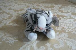 "Rare Ty Original Beanie Babies ""Prance"" The Grey Stripe Cat/Retired Erro... - $128.69"