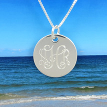 Sterling Silver Necklace - Monogram - Personalized - Monogrammed Necklac... - $44.95