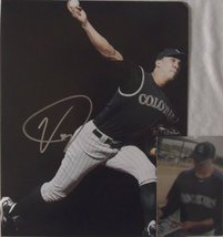 Ubaldo Jimenez Autographed 11x14 Photo w/ Proof Photo - Colorado Rockies - $29.69