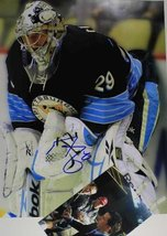 Marc-Andre Fleury Signed Autographed 11x14 Photo w/ Proof Photo - Pittsburgh ... - $89.09