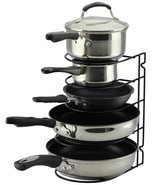 Pan Rack Organizer Holder for Kitchen, Countertop, Cabinet, and Pantry (... - $10.88
