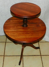 Light Cherry 2 Tier Dumbwaiter Table / Parlor Table - $299.00