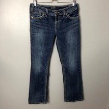 Silver Jeans Suki Surplus Boot Cut Denim Sz 32 14 Womens Wide Stitch Str... - $41.36