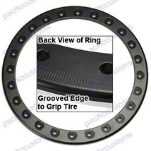 "Empi 9776 Race Trim Bead Lock Wheel Ring 15"" Powder Coated Matt Black, Each - $85.95"