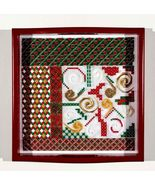Santa's Tray christmas counted canvaswork chart DebBee's Designs - $14.40