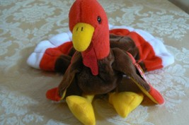 "Rare Ty Original Beanie Babies ""Gobbles"" The Turkey/Retired Errors Mint - $1,286.99"