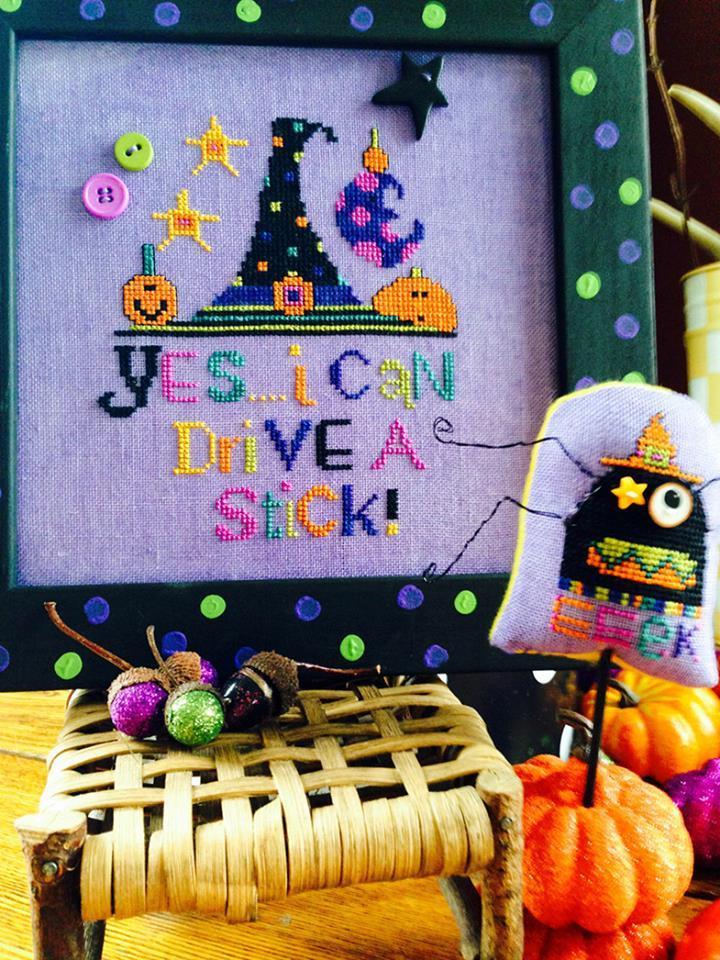 BUTTON PACK for Drive A Stick cross stitch chart Amy Bruecken Designs