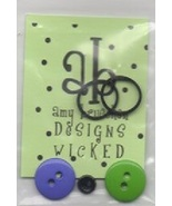 BUTTON PACK for Wicked Witch cross stitch chart Amy Bruecken Designs   - $6.00