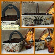 Halloween Sewing Days Basket cross stitch chart Mani di donna   - $23.40