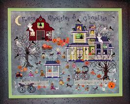 Bump N D'Knight Farm halloween cross stitch chart Praiseworthy Stitches  - $14.40