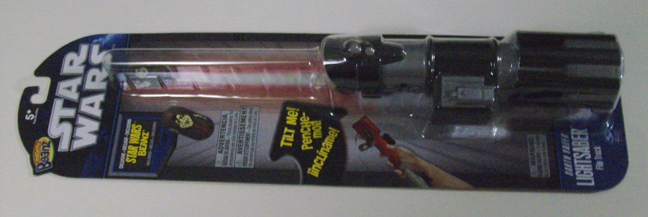 Star Wars Mighty Beanz Darth Vader Lightsaber Flip Track w/ Darth Sidious - New