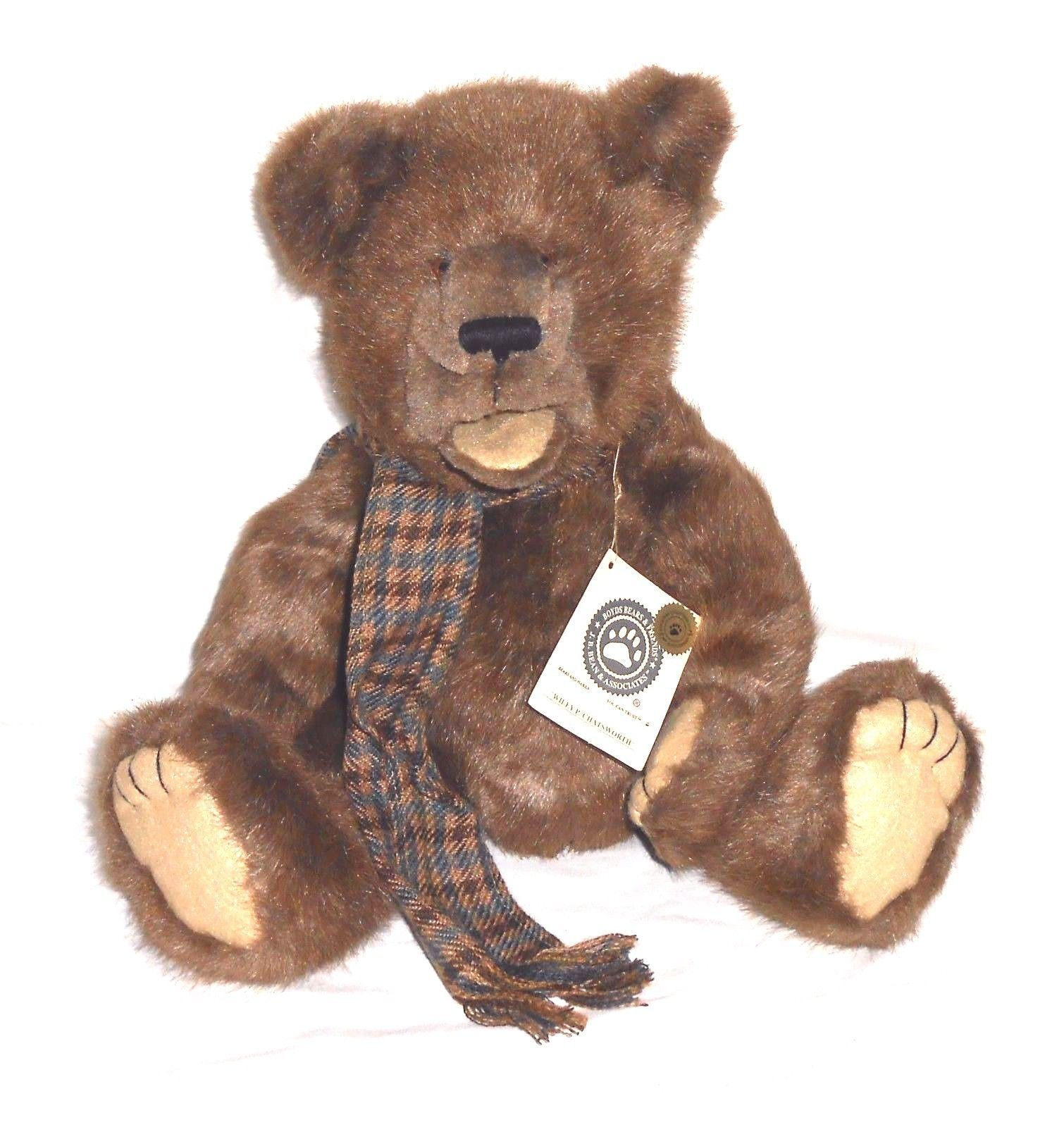 "Boyds Bear ""Wiley P. Chatsworth"" 18"" Plush Bear Puppet- #585000-05 ~New -Retired"