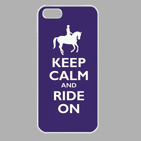 NEW iPhone 5 Seamless Case White Keep Calm And Ride On  Gift model 34881518
