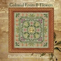 Colonial Fruits and Flowers cross stitch chart Elizabeth's Designs - $11.70