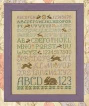 Rustic Rabbit Sampler cross stitch chart Elizabeth's Designs  - $9.00