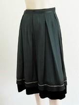 $1970 NWT Beautiful CHLOE Forest Green Silk Pleated Skirt Sz.38/6 - $296.01