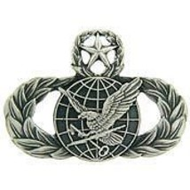 AIR FORCE MASTER FUEL SUPPLY SUPPORT MILITARY BADGE PIN - $13.53