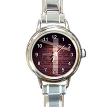 Ladies Round Italian Charm Bracelet Watch John ... - $10.99