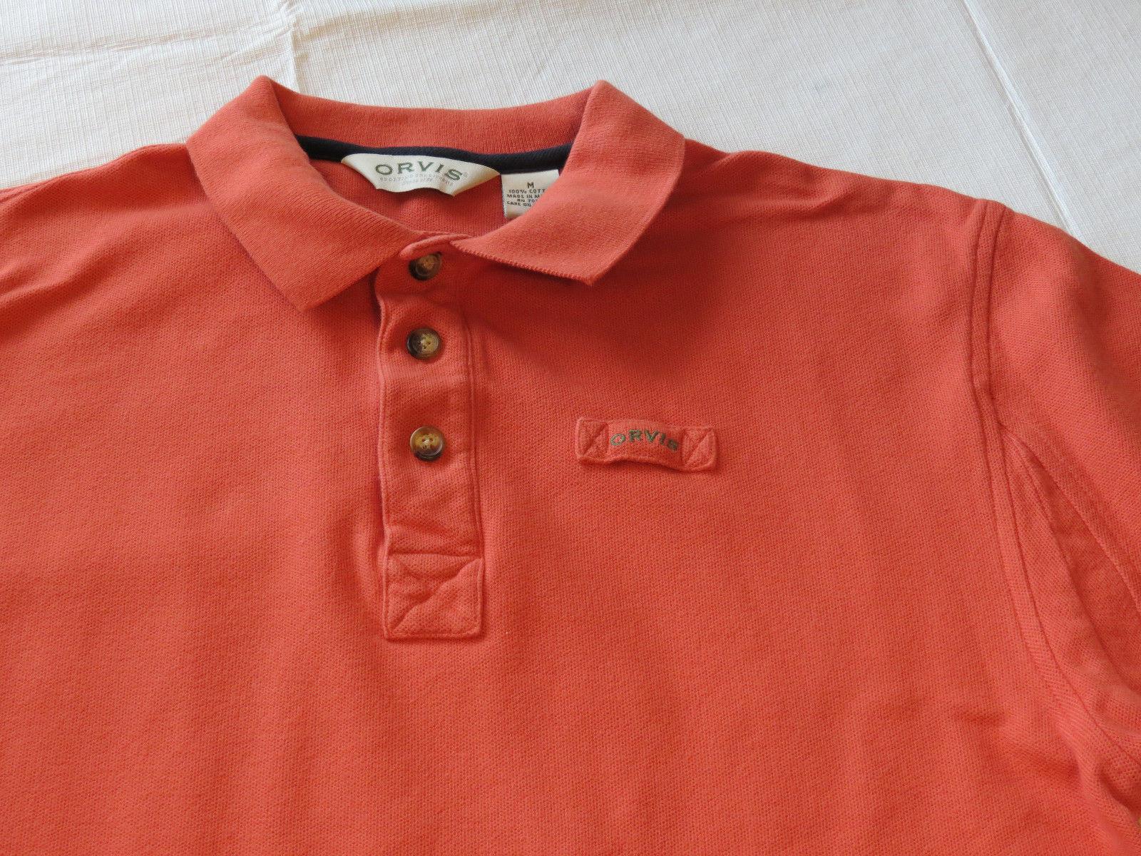 e6cd0b13304 Mens Orvis orange polo shirt cotton M short and 11 similar items