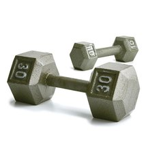Champion Barbell 75-Pound Hex Dumbell with Ergo... - $103.70
