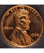 1960 Proof Lincoln Memorial Cent LD #0024 - $1.99