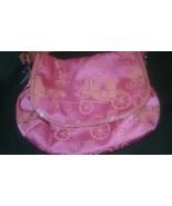 Coach Magenta & Orange Large Nylon Flap Shoulder Bag Horse Carriage Rare... - $69.99