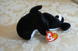 "Rare TY Original Beanie Babies "" Waves "" the Whale-With "" Echo the Dolph... - $989.99"