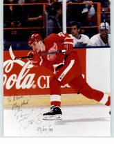 Darren McCarty Signed Autographed 'To Dave' Glossy 8x10 Photo (Detroit Red Wi... - $29.69