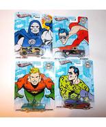 4 New Hot Wheels DC Comics Originals Riddler Aquaman Plastic-Man Darkside - $12.60