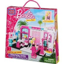 New! Mega Bloks Barbie Build 'n Style Fashion Boutique 80225 107 Pieces  - $24.24