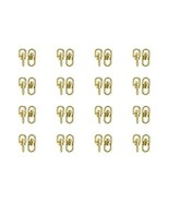 25 GOLD SWIVEL Connectors 16x7mm Links with 2 Loops  for key rings, chai... - $4.42