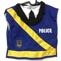 Gymboree Police Costume Blue Yellow Badge Dress Up VTG 3-6 - $12.61