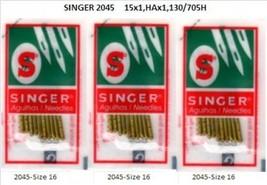 30PCS Singer 2045 Pfaff  Babylock  Ballpoint Needles 2045-16  3pks - $7.57